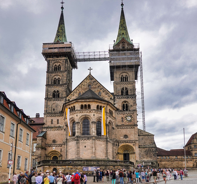 The Bamberg Cathedral is an example of Romanesque and early Gothic architecture. It was dedicated May 4, 1012.