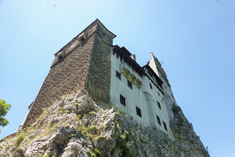 Approaching Bran Castle from the bottom in Transylvania, Romania.