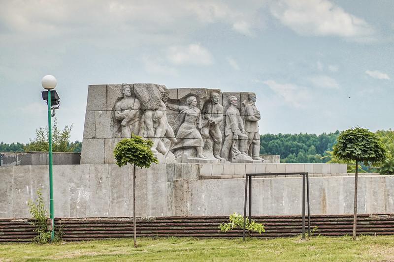 Worker's Memorial in Vidin, Bulgaria.
