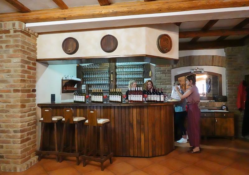 Wine tasting stop at a local winery in Osijek, Croatia.