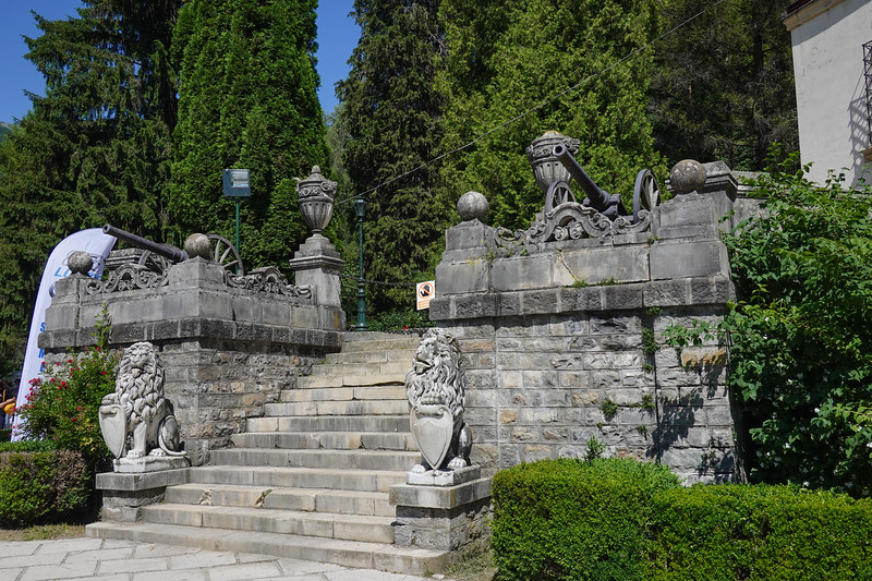 On the grounds of Peles Castle National Preserve in Romania.
