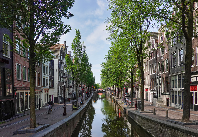 Touring the canals and streets of Amsterdam, Netherlands