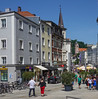 Passau shopping district for tourists.