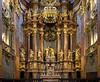 Church detail inside the Melk Abbey, Austria.
