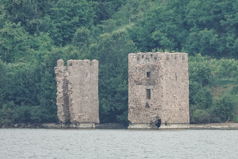 Ruins of ancient fortifications along the Danube in the Iron Gate Region.