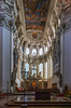 Inside St. Stephen's Cathedral in Passau, Germany.