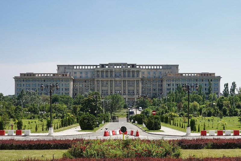 The Romanian Parliament building, the lasgest civilian building in the world. Bucharest, Romania.