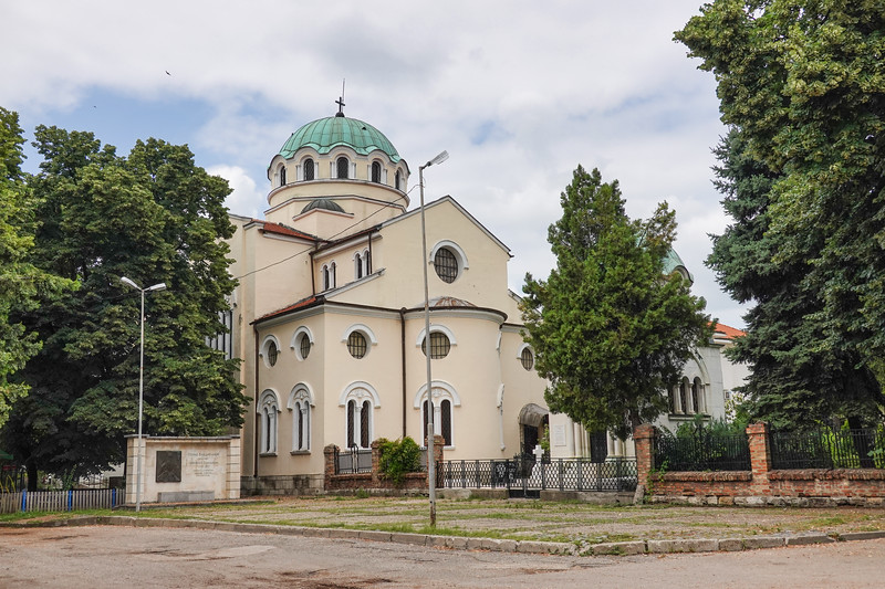 """The full name of the church is """"St. Nicholay Mirlikiiski the Wonder maker."""" It is the second largest Orthodox Church in the town of Vidin, Bulgaria"""