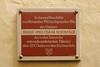 Memorial plaque for Oskar Schindler, subject of the movie Shindler's List.