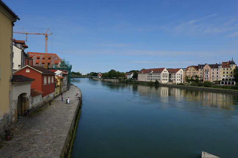 The Danube as it goes through Regensburg, Germany.