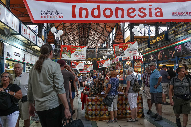 Indonesia Day in the Budapest Grand Market.
