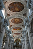 Ceiling art inside 14th-century St. Stephens Cathedral in Passau, Germany.