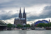 Cologne Cathedral with the Cologne train station and other area churches in the background.