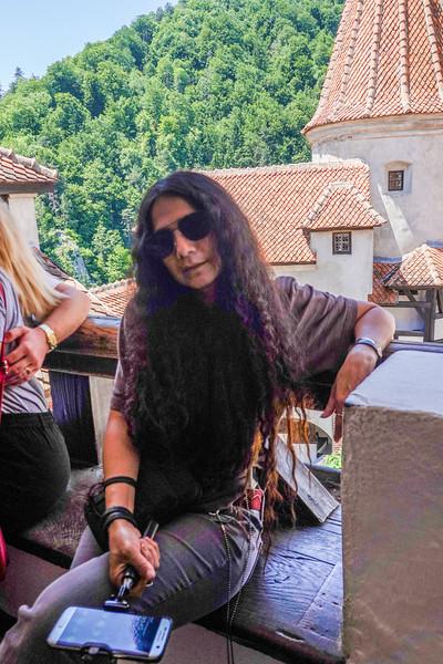 Pla inside Count Dracula's Castle in Transylvania, Romania.