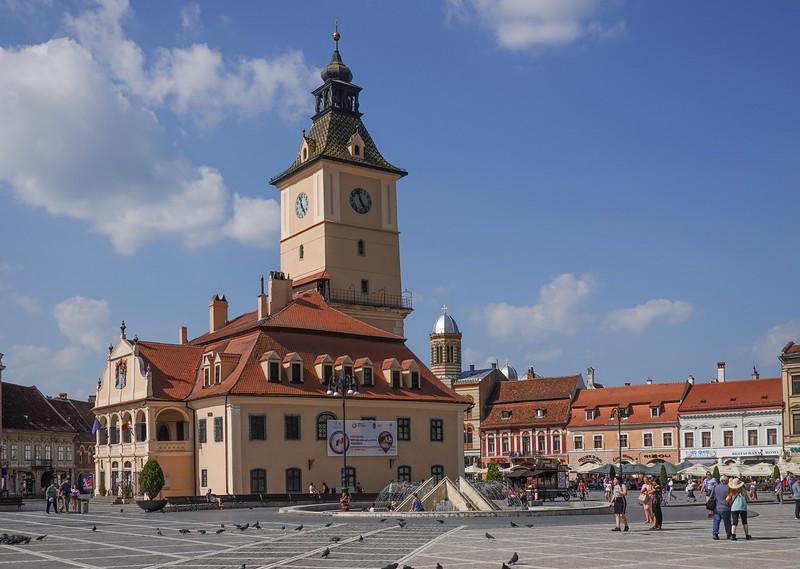 Exposition Center in Town Square, Rasnov, Romania.