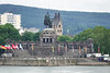 The Equestrian statue of Kaiser Wilhelm I. at the German Corner (Deutsches Eck) in Koblenz, Germany.