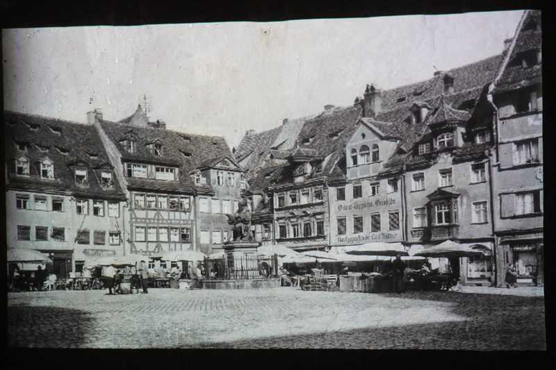 A photograph of downtown Old Town Nuremberg, Germany before the WWII.