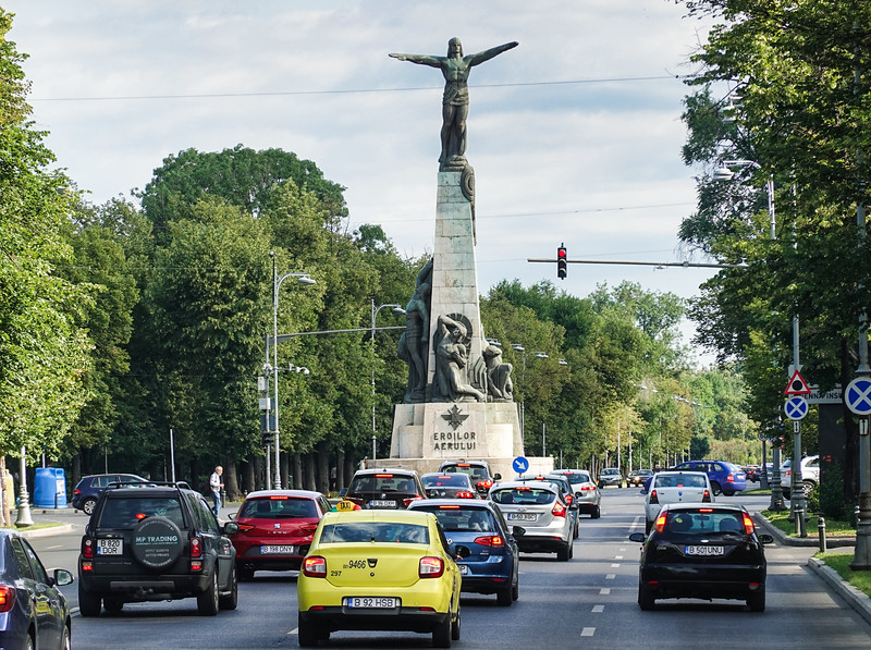 The Monument to the Heroes of the Air, located in the Aviator's Square, on Aviator's Boulevard, Bucharest, Romania, was built between 1930 and 1935.