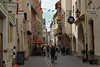 A street in the shopping district of Regensburg, Germany.