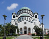 St.Sava Cathedral in Belgrade, Serbia.  The Church of Saint Sava is a Serbian Orthodox church located on the Vračar plateau in Belgrade, Serbia. It is one of the largest Eastern Orthodox church buildings and ranks among the largest church buildings in the world.
