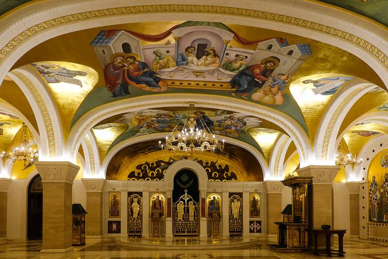 Downstairs, St. Sava Cathedral Belgrade, Serbia