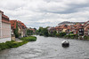 Rivers and bridges through Bamberg, Germany.