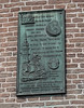 The Tower of Tears plaque for Henry Hudson and the Half Moon ship which  discovered New York Harbor in 1609.