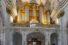 Organ pipes of the  Assumption Cathedral of the  Roman Catholic Archdiocese of Kalocsa-Kecskemét.  Kalocsa, Hungary
