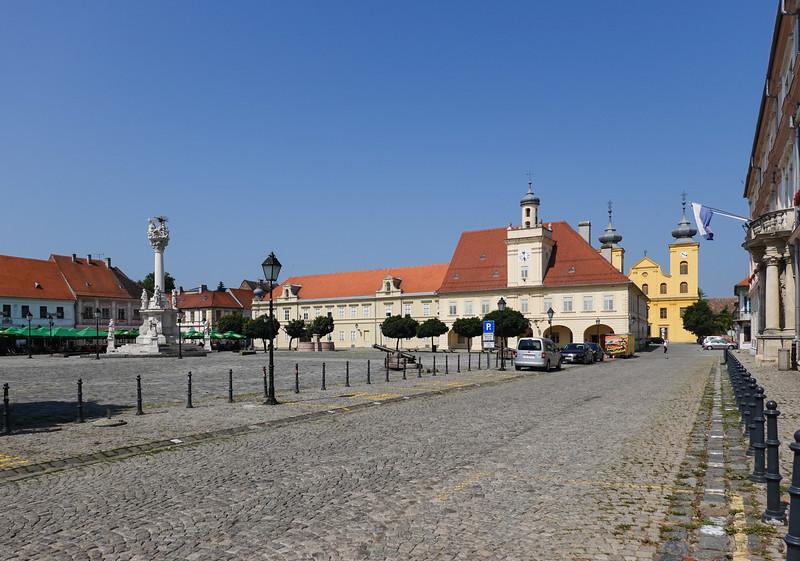 Trinity Square in Osijek, Croatia.