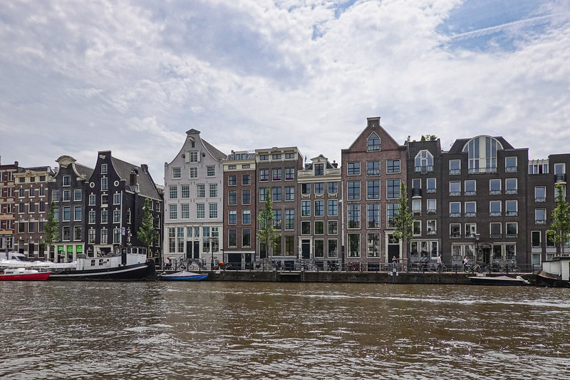 A view of Amsterdam's narrow homes from the canals.