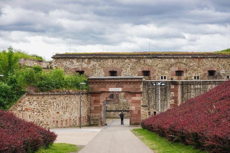 Entering Ehrenbreitstein Fortification in Koblenz, Germany.