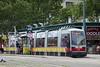 Vienna Public Transit Rail System in Austria.