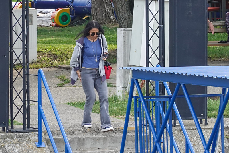 St. Wifey Pla Running to catch the Viking Lif before it leaves Vukovar, Croatia.
