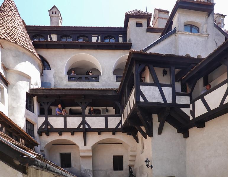 Upper levels of Bran (Count Dracula) Castle in Transylvania, Romania.