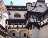 Upper levels of Bran (Count Dracula) Castle in Transylvania, Romania.