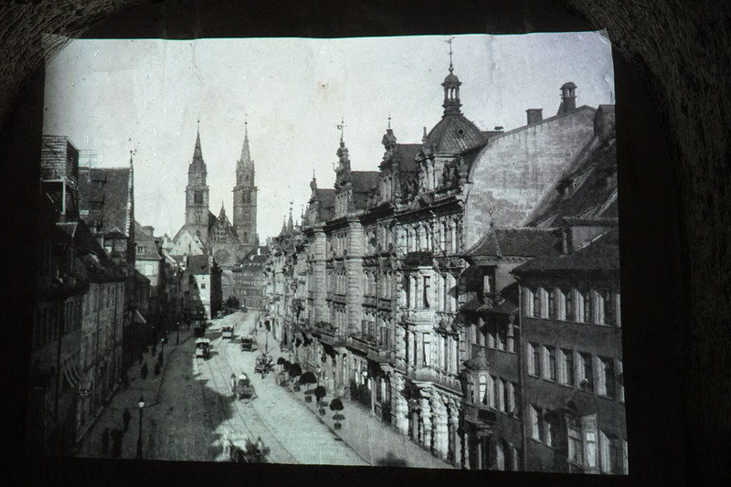 A photograph of Old Town Nuremberg before WWII.