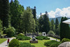 Side garden to Peles Castle in Romania.