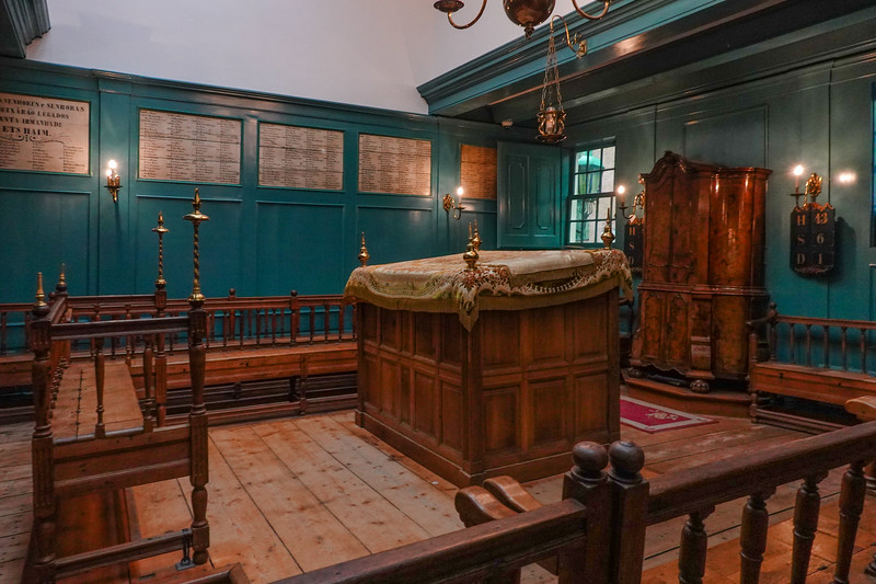 A room in the old Portuguese Synagogue in Amsterdam's Jewish Quarter.
