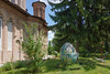 Apparently, a rather large Faberge goose has stopped at the Romanian Snagov Monastery.