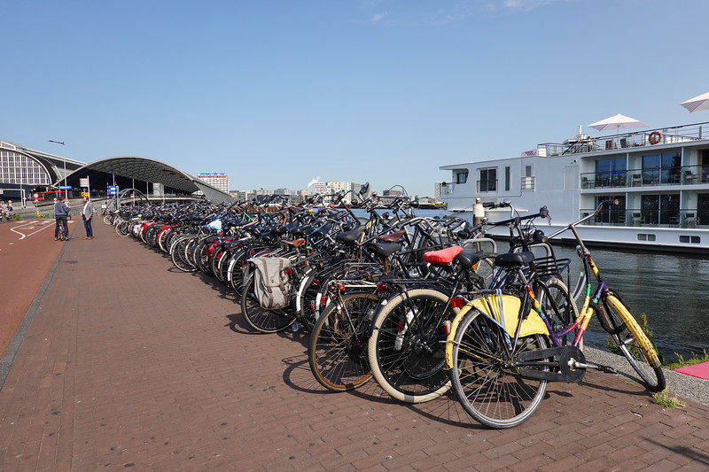 Amsterdam, the land of the bicycle.