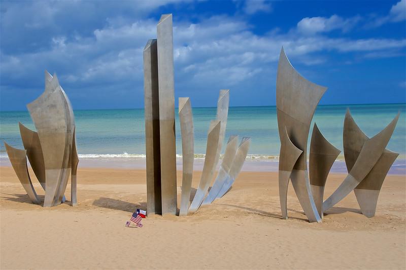 Les Braves Memorial, Omaha Beach, Normandy