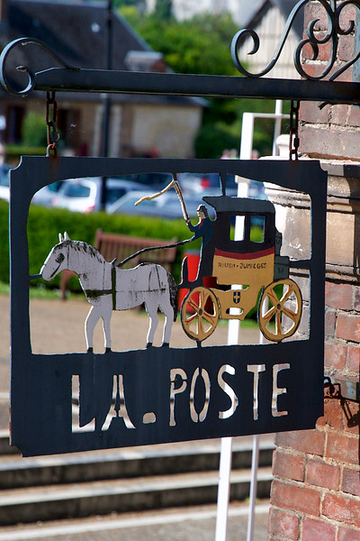 Jumieges Post Office Sign