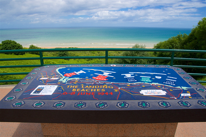 D-Day Invasion Map, Omaha Beach, Normandy