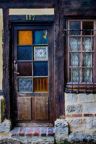 Old French Door, Jumieges