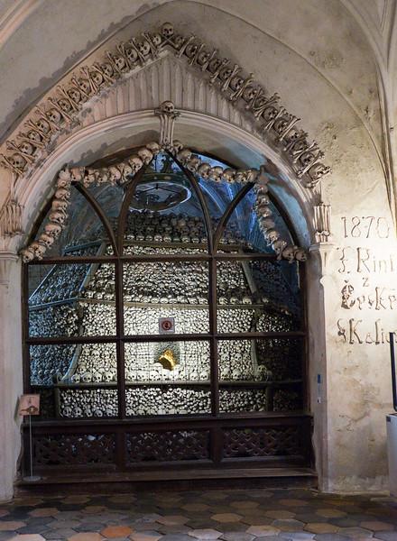 The Sedlec Ossuary, aka, the Church of Bones in Kutna Hora, Czech Republic.