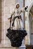 Statue inside Saint Barbara's Church in Kutna Hora, Czech Republic.
