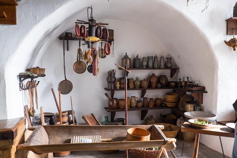 Kitchen area of Marksburg Castle.