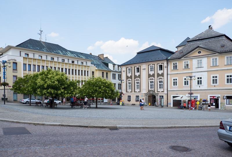 City square in Kutna Hora, Czech Republic.