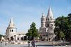 Area behind Saint Matthais Church in Budapest, Hungary.