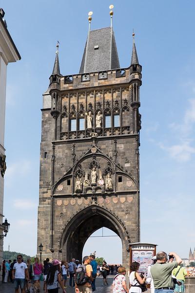 Bridge across the Vltava Rover in Prague, Czech Republic.